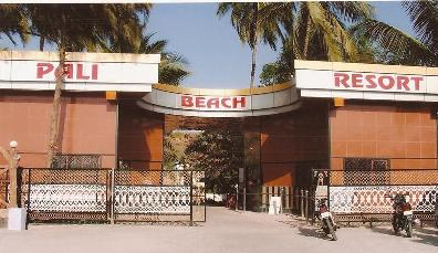 beach resort in mumbai - entry gate